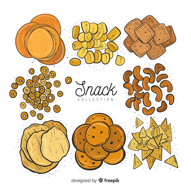 Set de snacks Vecteur gratuit