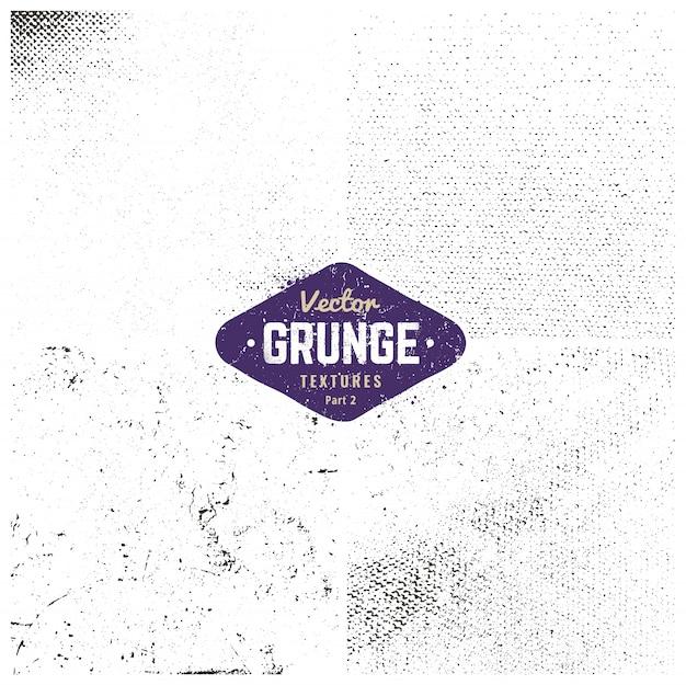 Set De Textures Grunge Vecteur gratuit