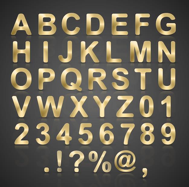 Set de vector alphabet or. Vecteur Premium