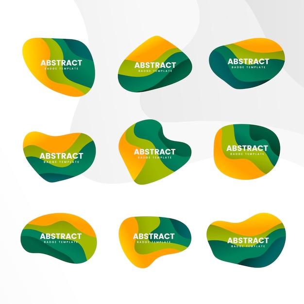Set de vector design abstrait badge Vecteur gratuit