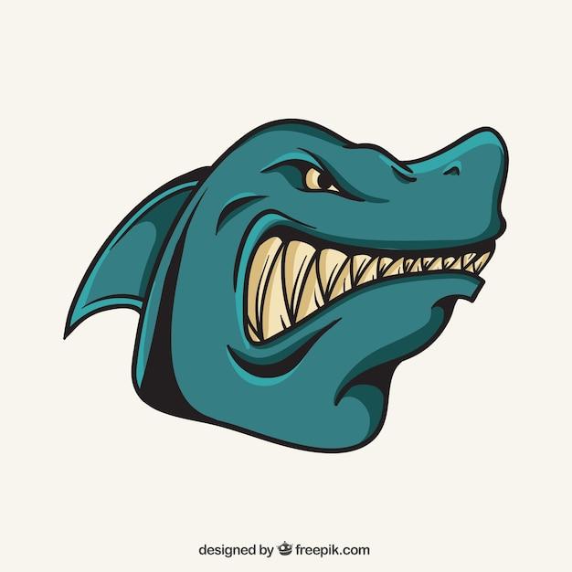 Shark mascotte Vecteur gratuit