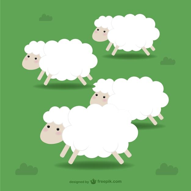 Sheep illustration Vecteur gratuit