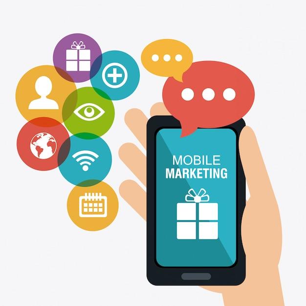 Shopping, commerce électronique et marketing Vecteur Premium