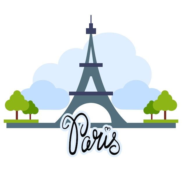 Showplace illustration avec tous les bâtiments célèbres. bannière linéaire. Vecteur gratuit
