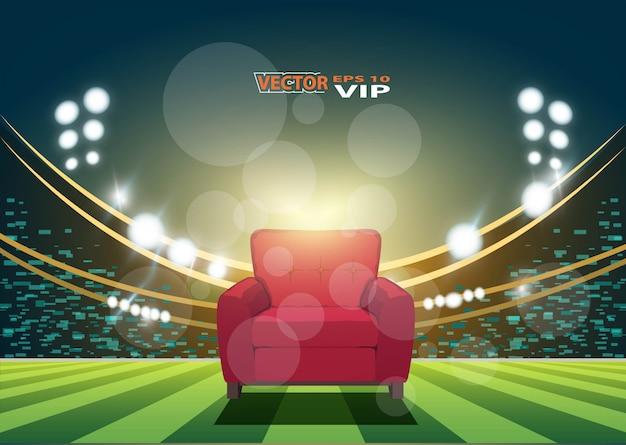 Siège vip dans le stade de football Vecteur Premium