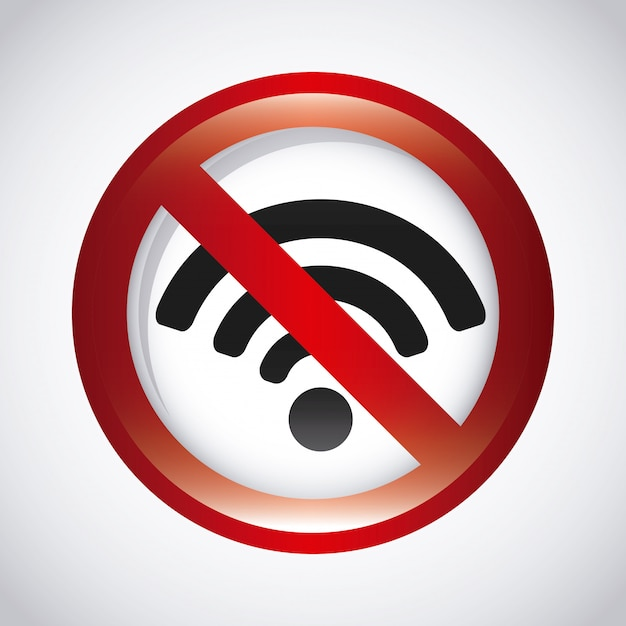 Signal wifi Vecteur Premium