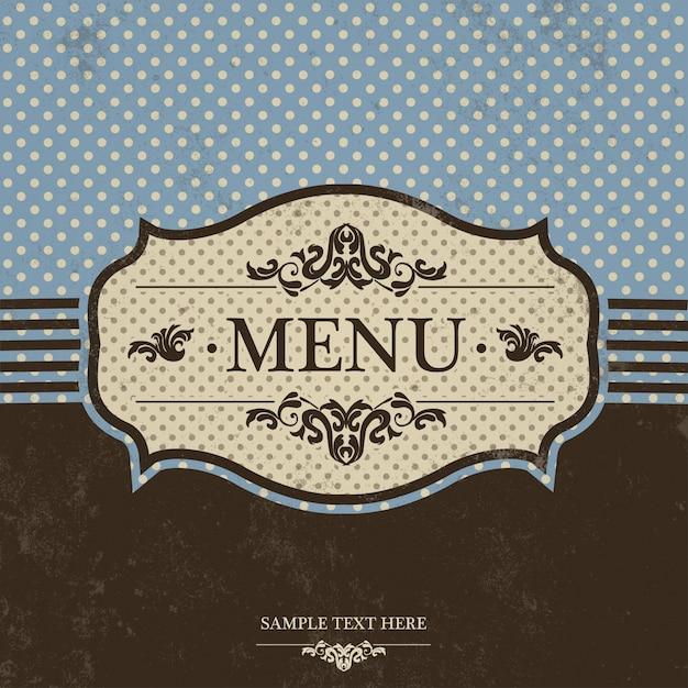 Signature du menu vintage Vecteur gratuit