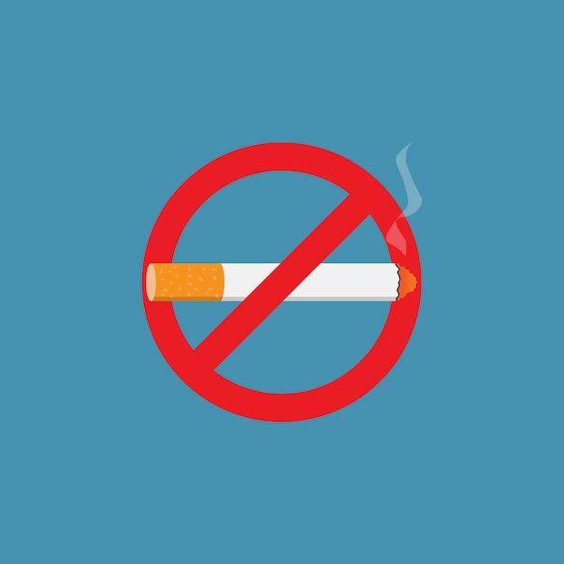 Signe De Cesser De Fumer Vecteur Premium