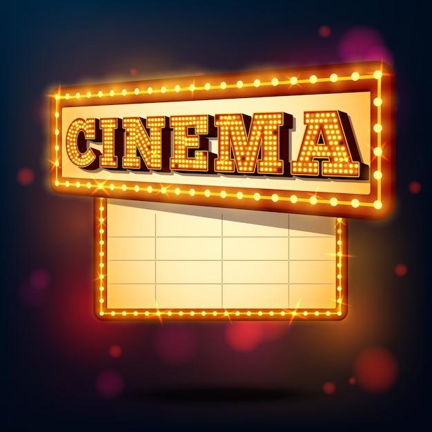 Signe de cinéma rétro Vecteur gratuit