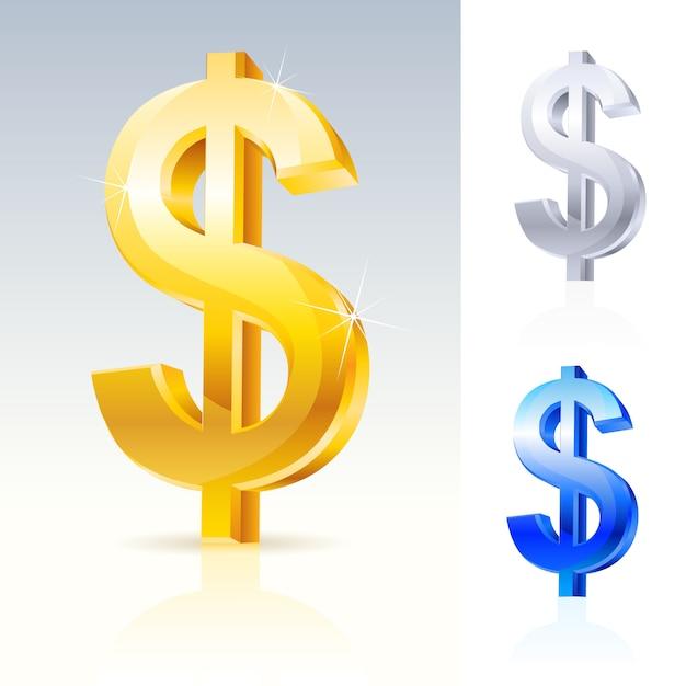 Signe De Dollar Abstrait Vecteur Premium