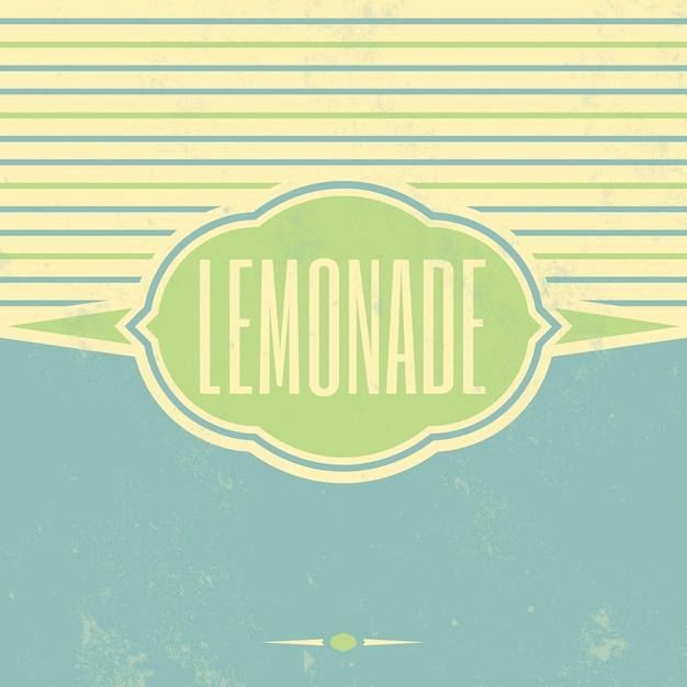 Signe de limonade vintage Vecteur gratuit