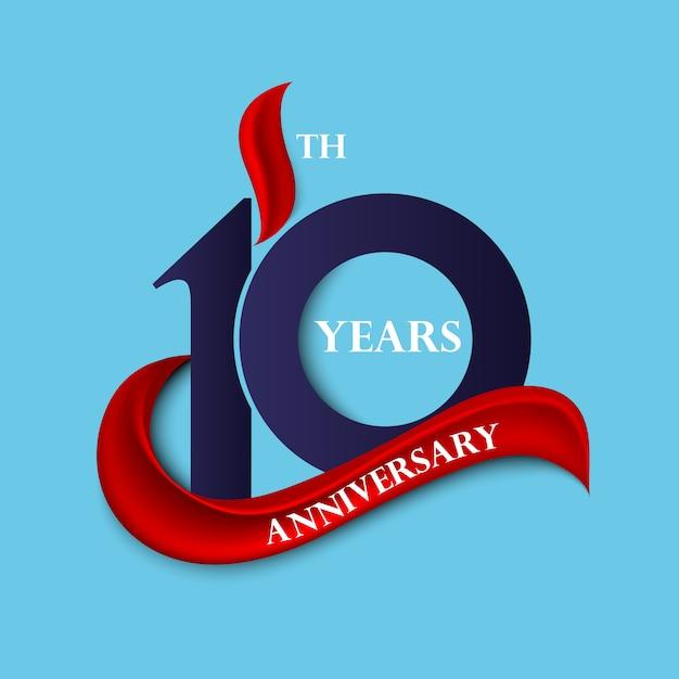 Signe Et Logo D'anniversaire Vecteur Premium
