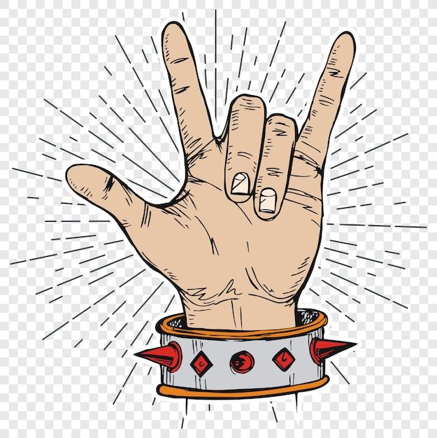 Signe De La Main Rock N Roll Musique Télécharger Des