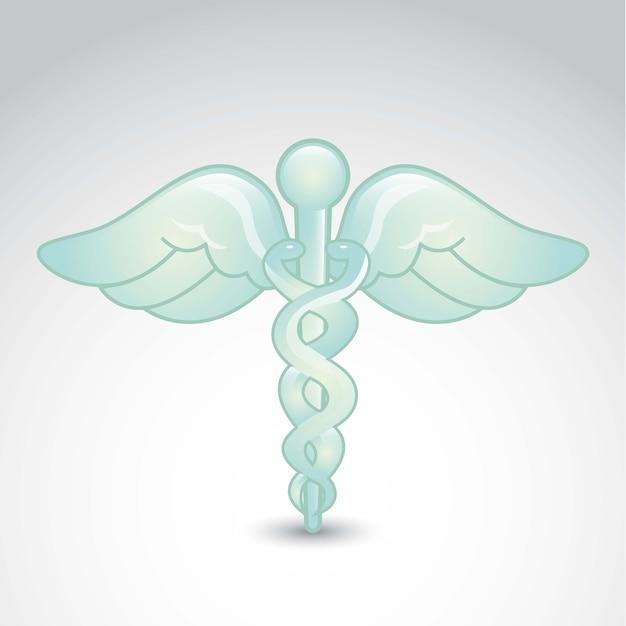 Signe médical sur illustration vectorielle fond gris Vecteur Premium