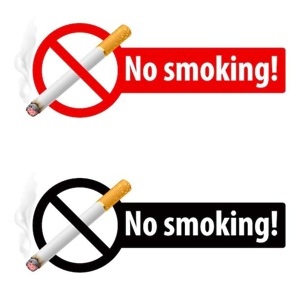 Le Signe De Ne Pas Fumer Vecteur Premium