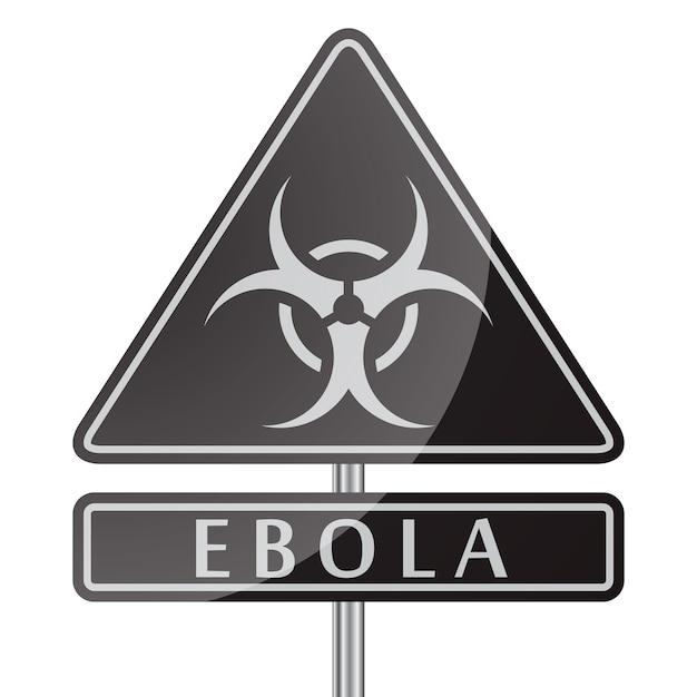 Signe Noir De Danger Ebola Vecteur gratuit