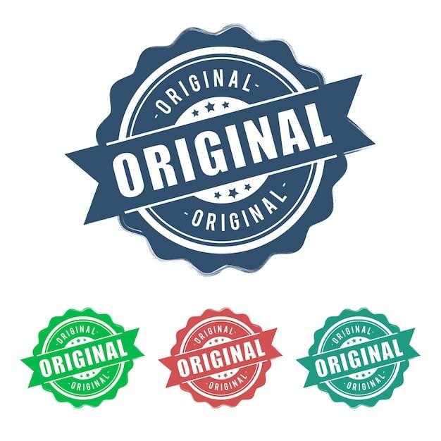 Signe original de ruban vintage grunge rond Vecteur Premium