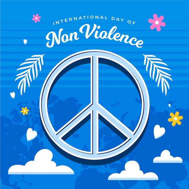 Signe De Paix Pour La Journée Internationale De La Violence Illustré Vecteur gratuit