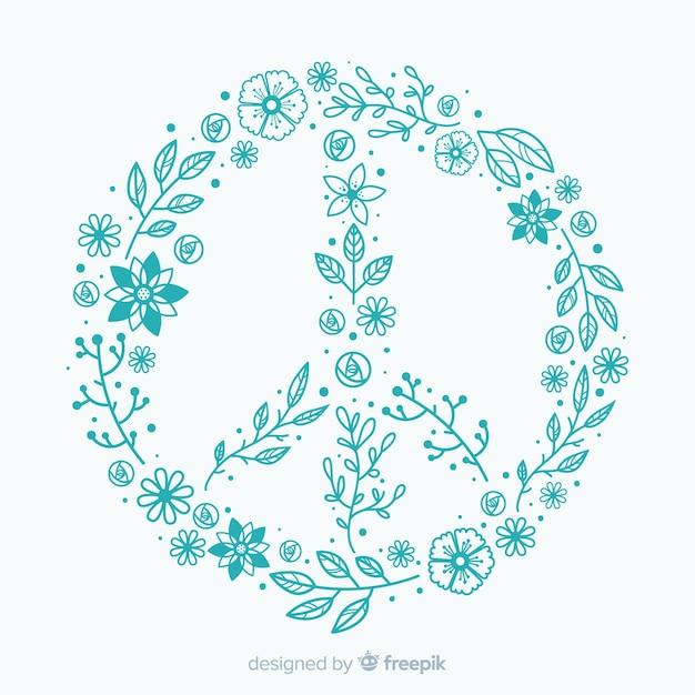 Signe de paix Vecteur gratuit