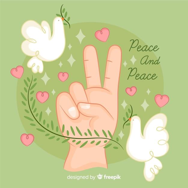 Signe de la paix Vecteur gratuit