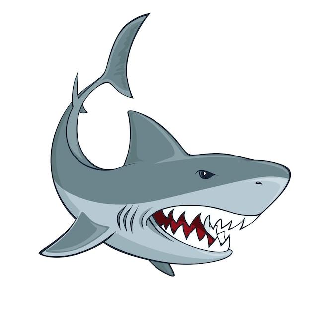 Signe de requin Vecteur gratuit