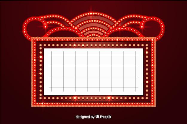 Signe de théâtre rétro réaliste Vecteur gratuit