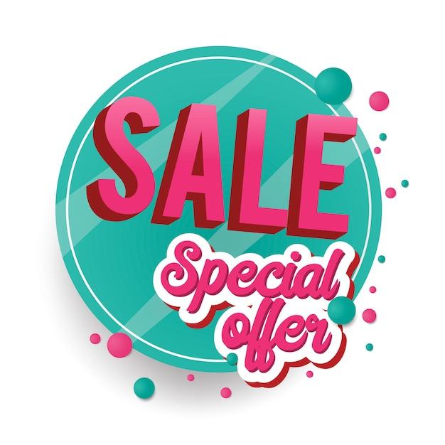Signe de vente offre spéciale Vecteur gratuit