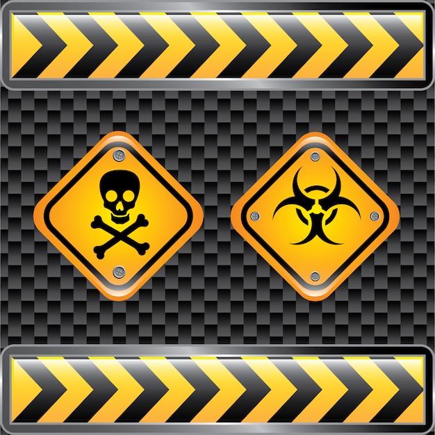 Signes biohazard Vecteur Premium
