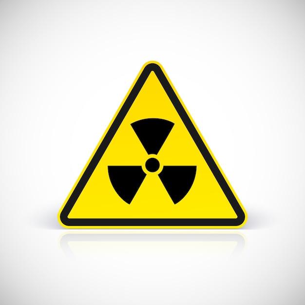 Signes De Danger De Rayonnement. Symbole En Signe Triangulaire Vecteur Premium