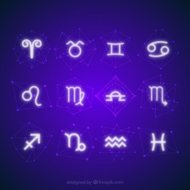 Les signes du zodiaque horoscope Vecteur gratuit