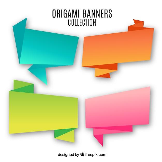 Signes D'origami Vecteur gratuit
