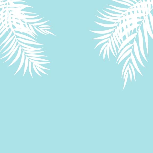Silhouette belle feuille de palmier Vecteur Premium