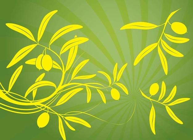 silhouettes jaunes de branches d 39 olivier t l charger des. Black Bedroom Furniture Sets. Home Design Ideas