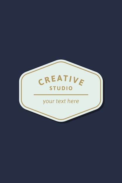 Simple logo d'entreprise Vecteur gratuit
