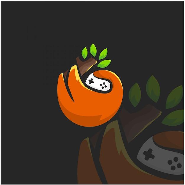 Singe dépend illustration logo Vecteur Premium