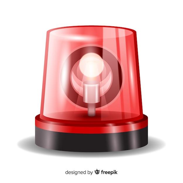Sirène Rouge Clignotante Vecteur gratuit