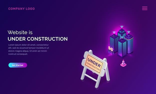 Site En Construction, Erreur De Maintenance Vecteur gratuit