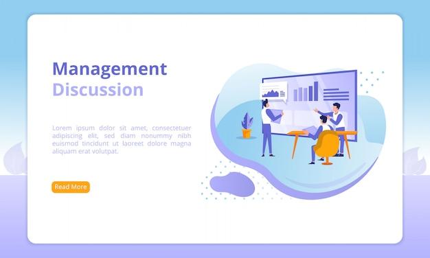 Site de discussion de gestion Vecteur Premium