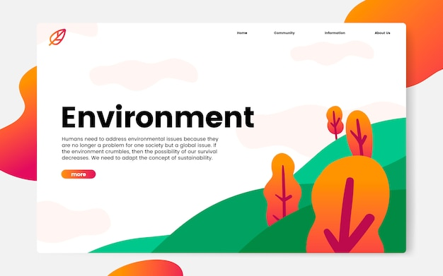 Site web d'information sur l'environnement et la nature Vecteur gratuit