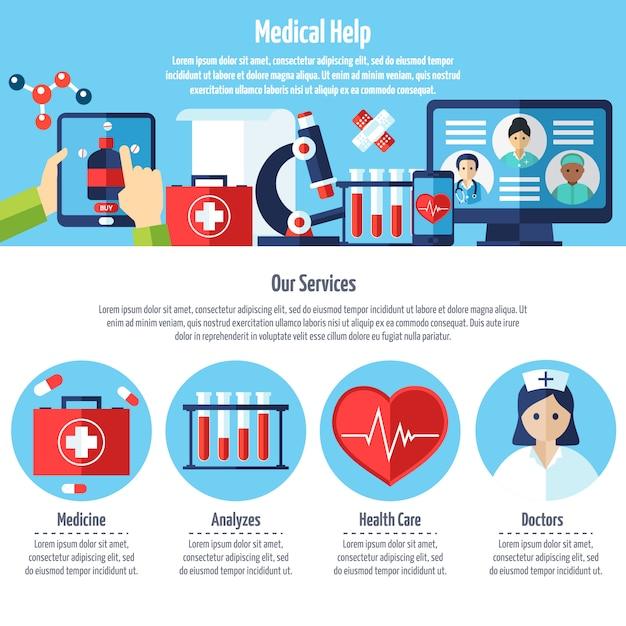 Site web médical Vecteur gratuit