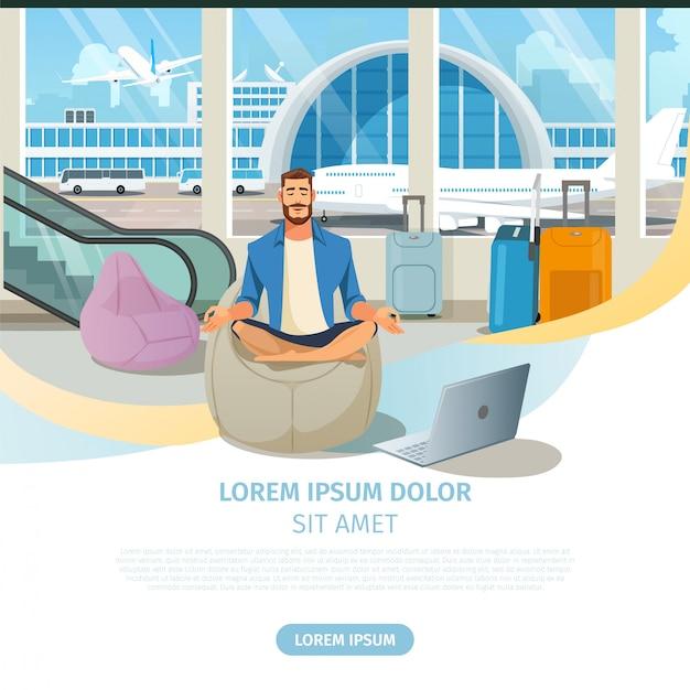 Site web de vecteur d'une compagnie aérienne Vecteur Premium