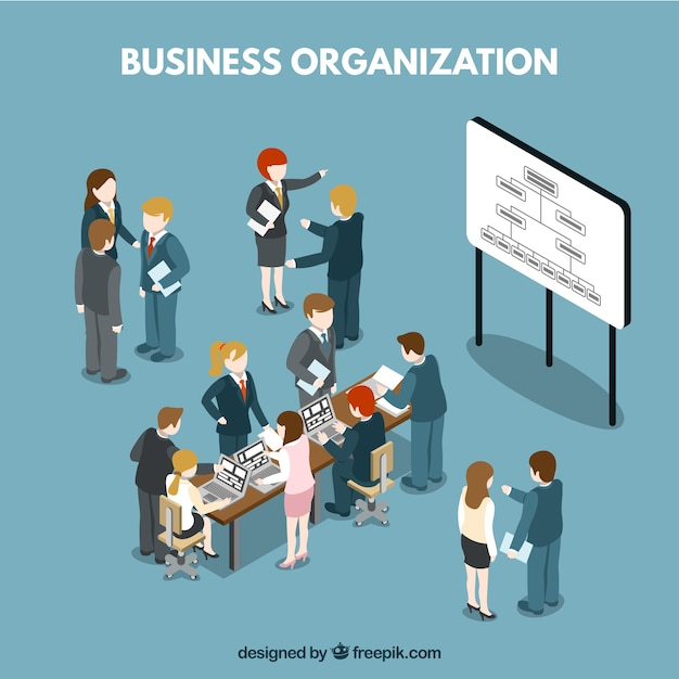 La situation de l'organisation d'affaires Vecteur gratuit