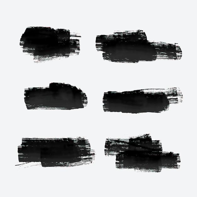Six Coups De Peinture Grunge Vecteur gratuit
