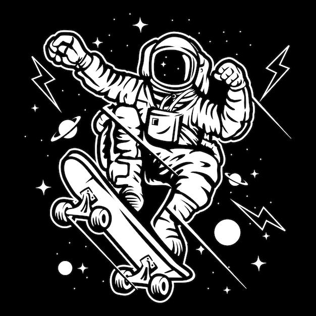 Skatespace Vecteur Premium