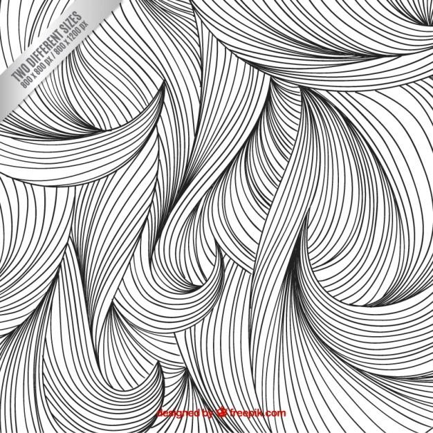 Sketchy Fond De Cheveux Vecteur gratuit