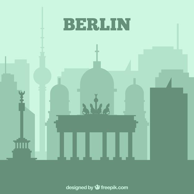 Skyline de berlin Vecteur gratuit