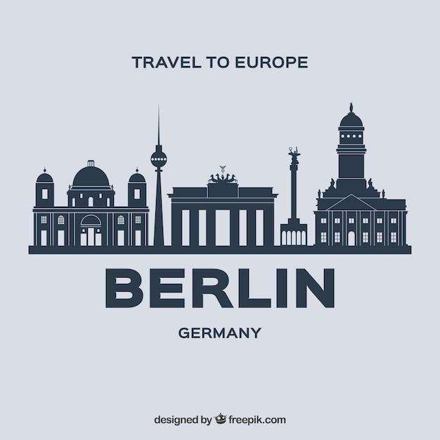Skyline design de berlin Vecteur gratuit