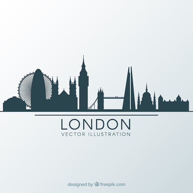 Skyline design de londres Vecteur gratuit