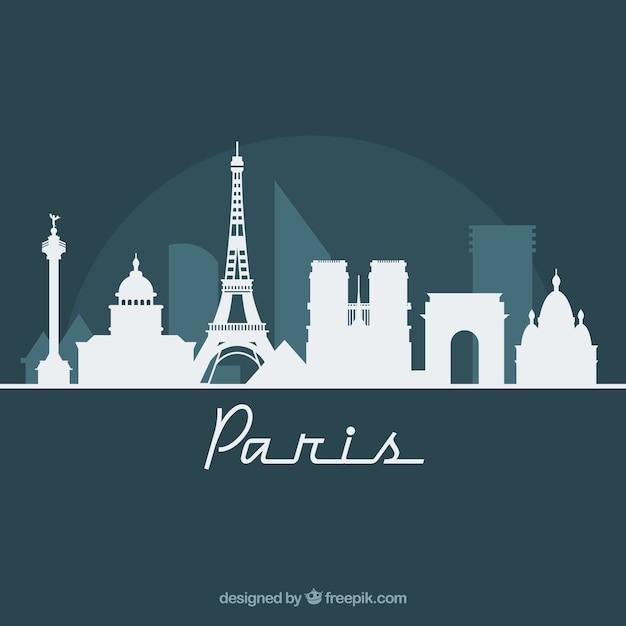 Skyline Design De Paris Vecteur gratuit