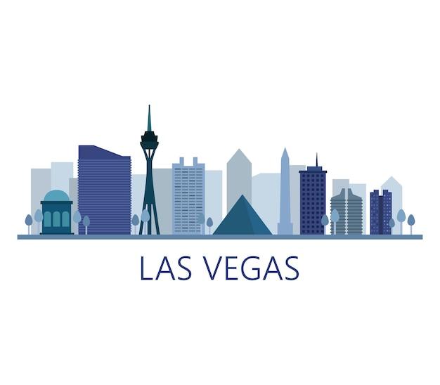 Skyline De Las Vegas Vecteur gratuit